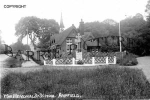 Ampfield, War Memorial and School c1925