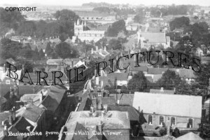 Basingstoke, from Town Hall Clock Tower c1930