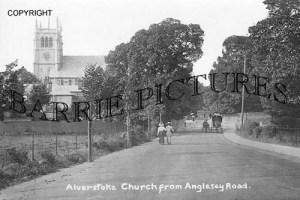 Alverstoke, Church from Anglesey Road c1910