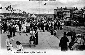 Cowes, The Parade c1900