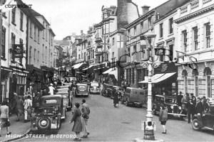Bideford, High Street c1945