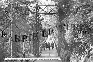 Bournemouth, Alum Chine Suspension Bridge c1950