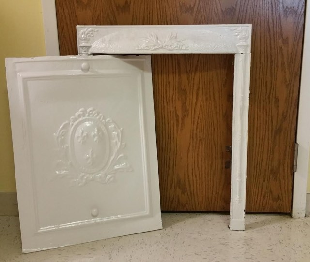 Antique Coal Fireplace Surround Summer Cover
