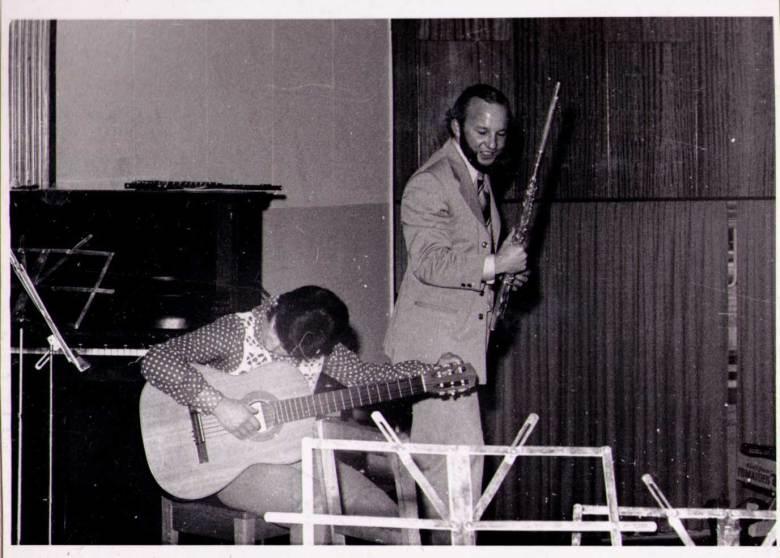 Vernon Hill and guitarist