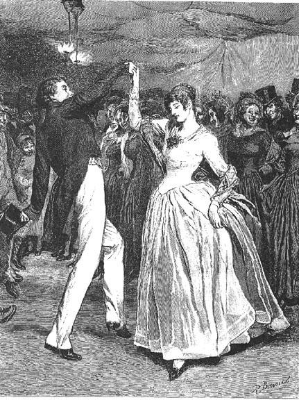 Farfrae was footing a quaint little dance with Elizabeth Jane