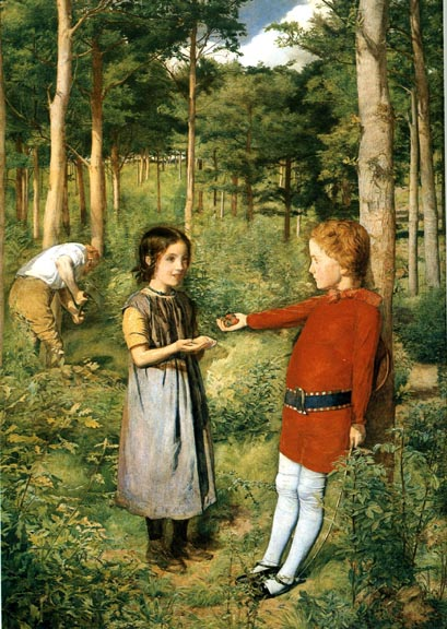 Image result for millais victorian woman raking leaves