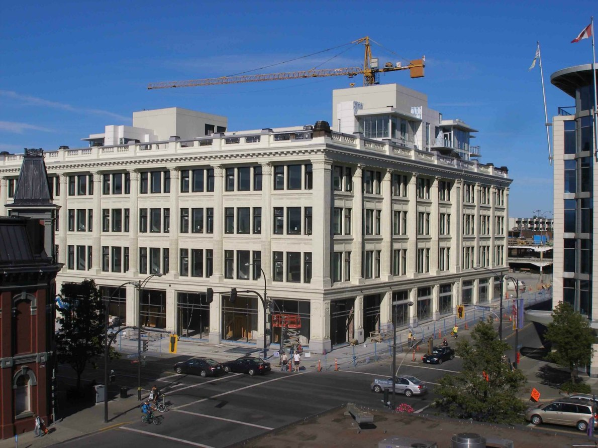 1701 Douglas Street in 2010 during renovation into The Hudson (photo by Victoria Online Sightseeing Tours)