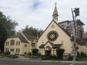 Reformed Episcopal Church, 626 Blanshard Street. Built in 1875-76 by architect John Teague for Rev. Edward Cridge.