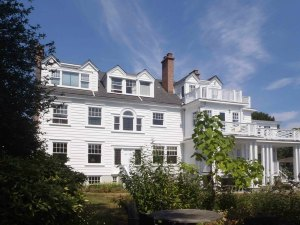 1509 Rockland Avenue, rear elevation. Designed in 1922 by architect Charles Elwood Watkins for Dr. William Miller