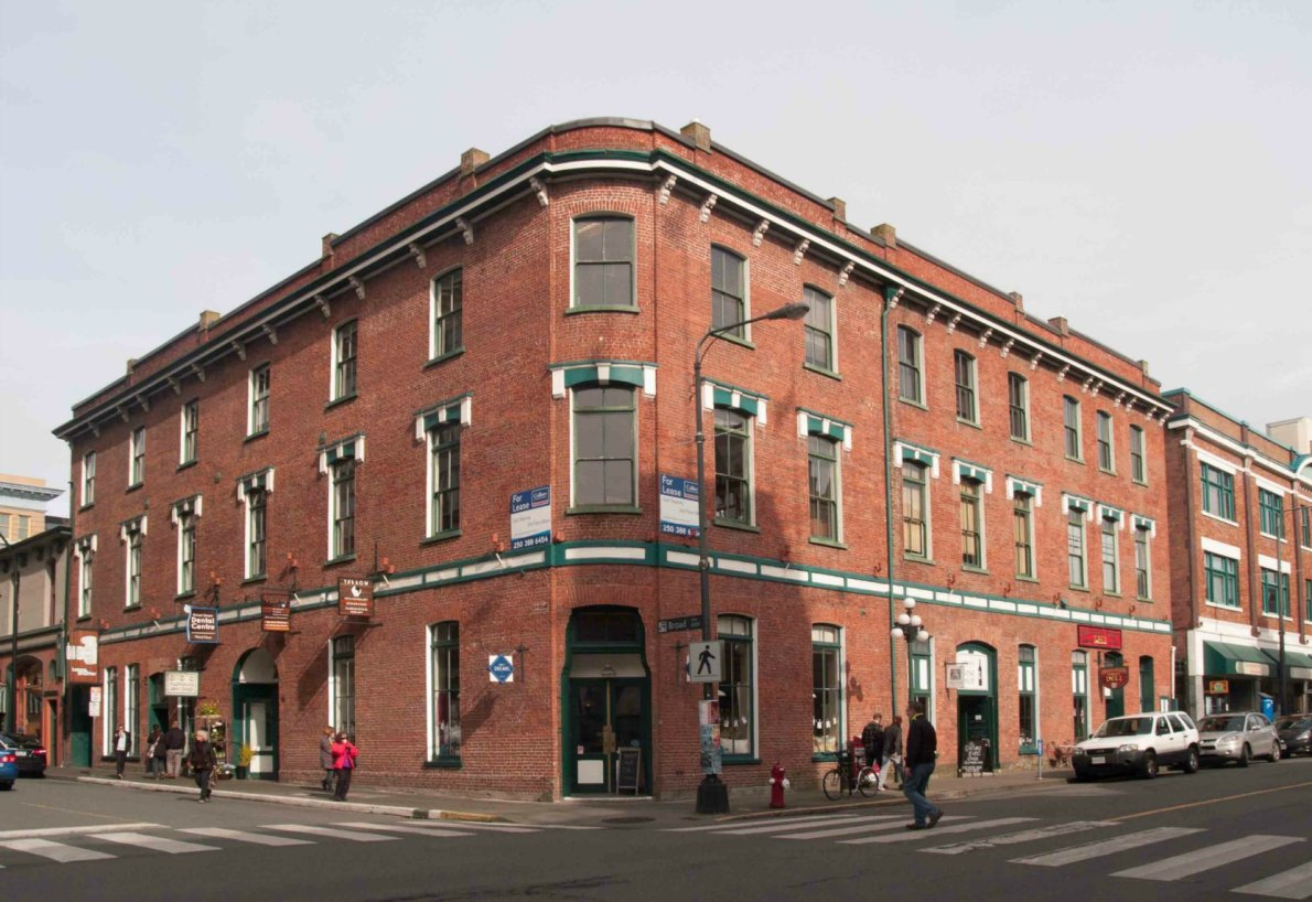 The Weiler Building at 1005-1009 Broad Street and 636 Broughton Street was built as a furniture factory and warehouse for John Weiler in 1884.