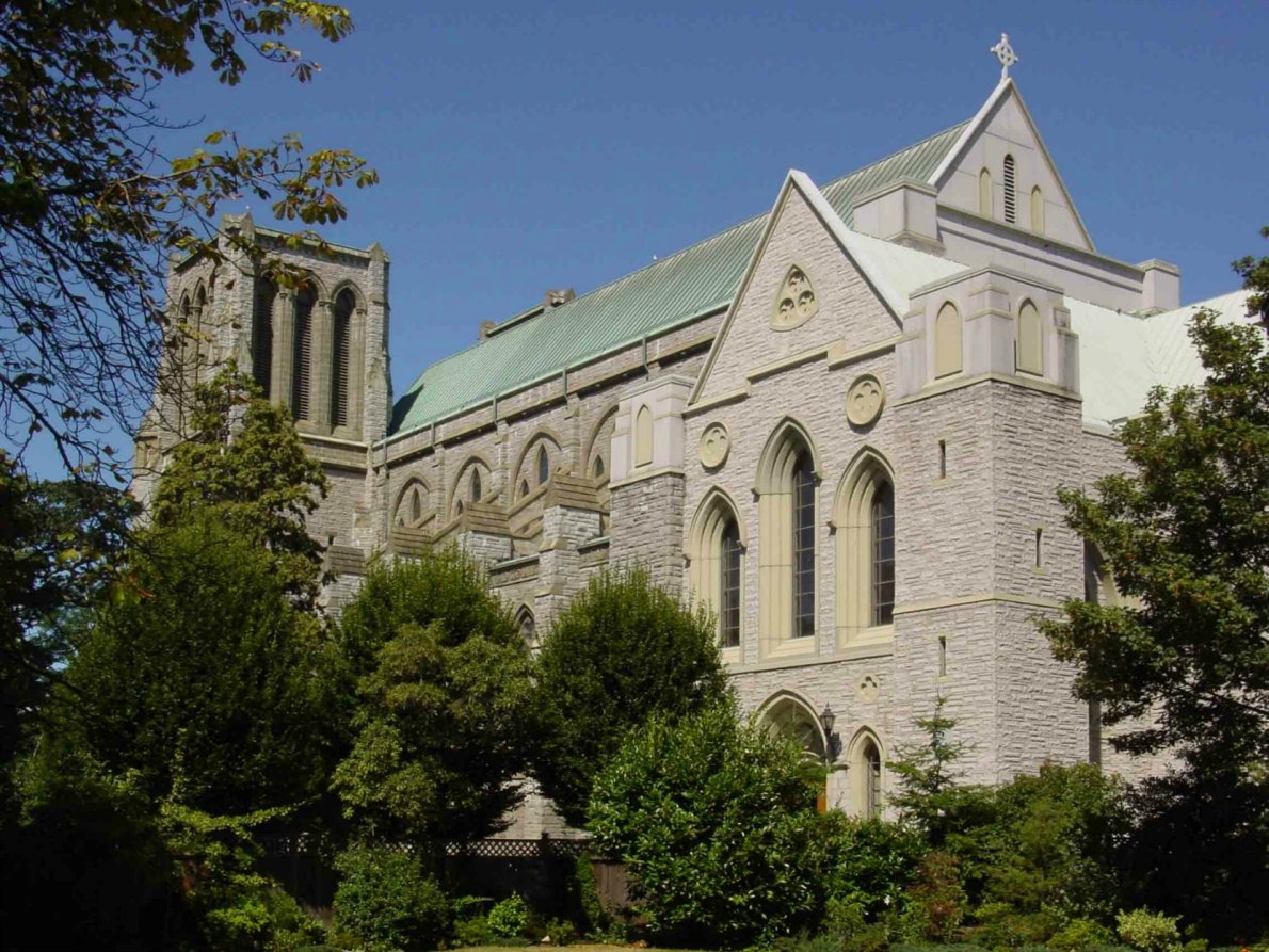 Christ Church Cathedral, south elevation, as seen from Burdett Street