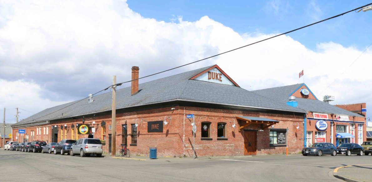 502-508 Discovery Street, built in 1901 by architect Francis Rattenbury for the B.C. Electric Railway Company, which used this building as its street car depot.