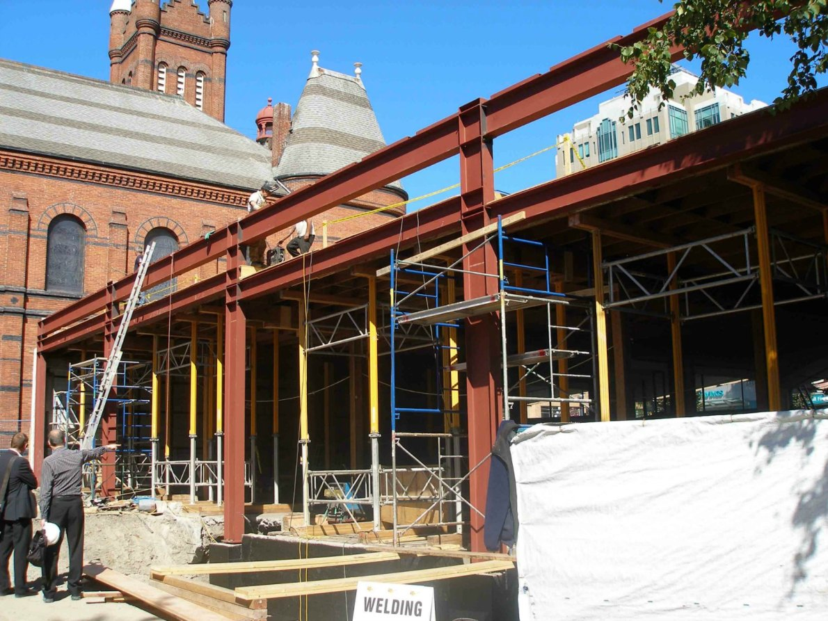 912 Douglas Street, renovation of the rear of the building in August 2010.
