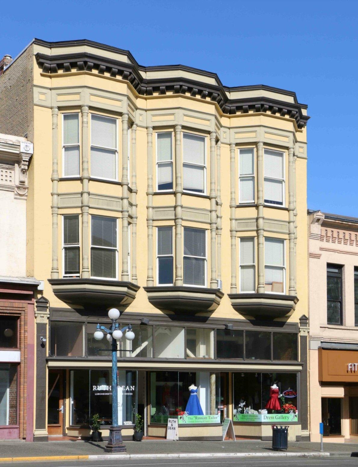 1308-1312 Douglas Street, originally built in 1891 by architect John Teague as a revenue property for Pauline E. Lange.