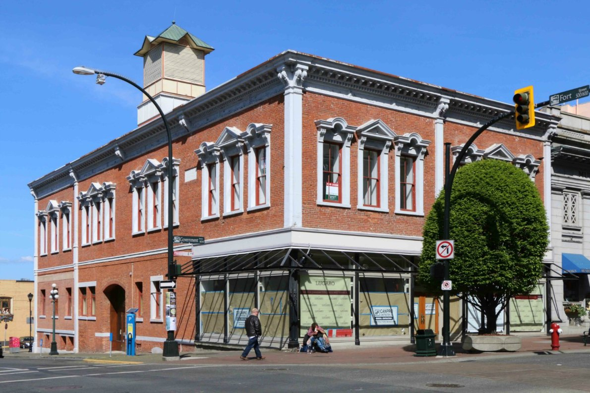The Southgate-Laschelles Building, 1102 Government Street/530 Fort Street, built circa 1869 for J.J. Southgate and H.D. Laschelles