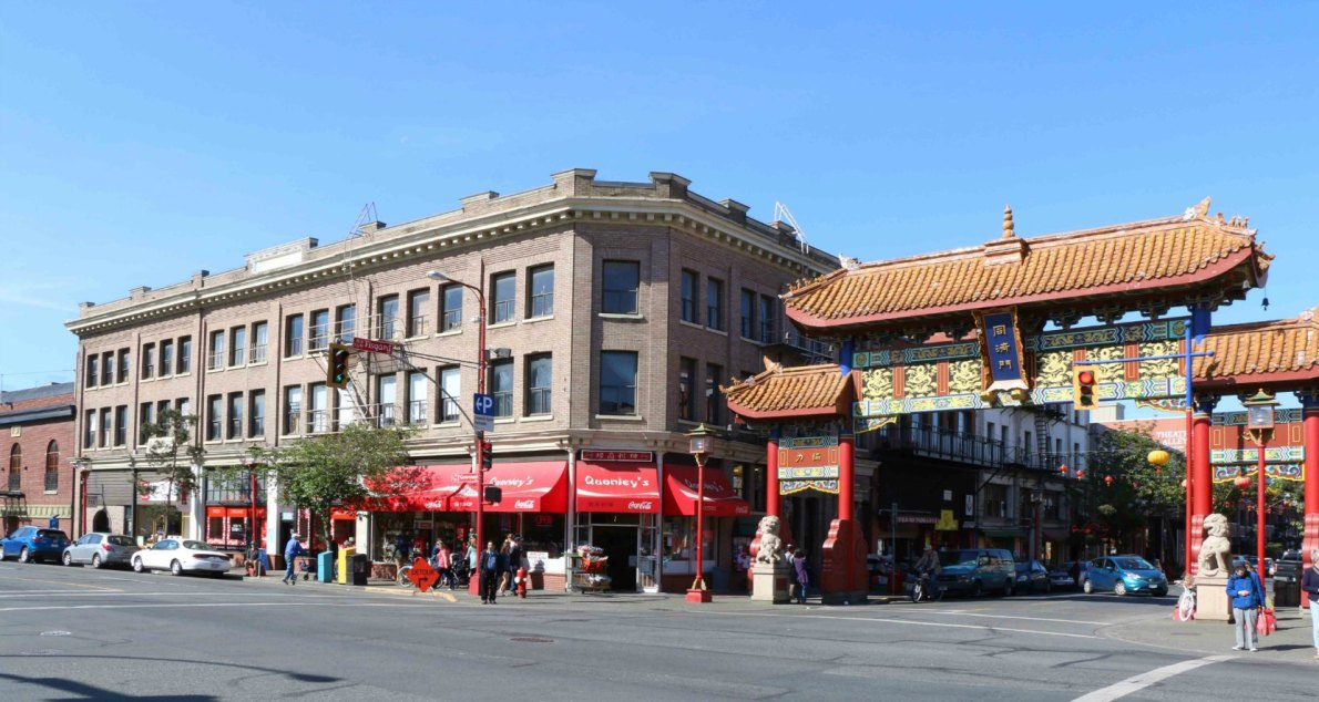 The Lee Block was built in 1910 by architect C. Elwood Watkins for Lee Ching and Lee Wong. It is listed on the Canadian Register of Historic Places as the Lee Block. (photo by Victoria Online Sightseeing Tours)