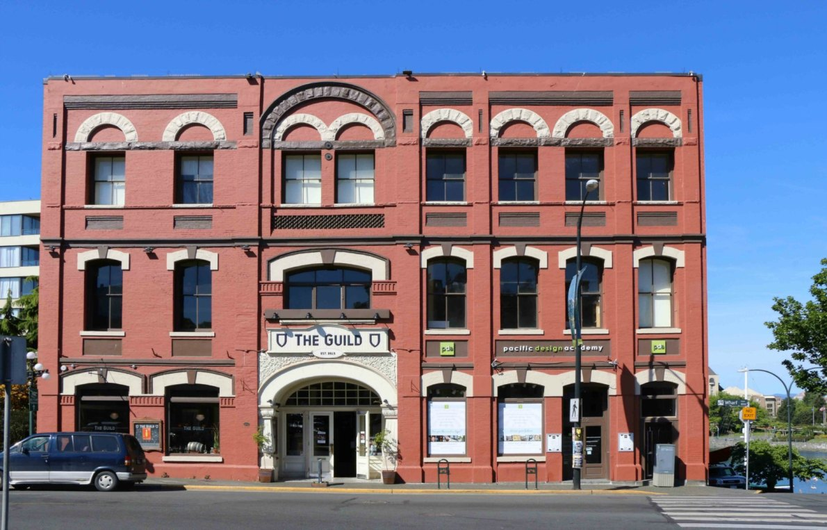1244-1252 Wharf Street, originally built in 1882 architect John Teague with subsequent additions in 1892 and 1896.