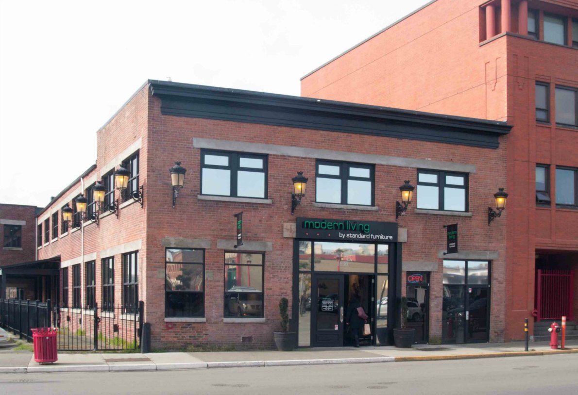 This building at 1630 Store Street was built in 1912 as a machine shop. In 2006 it was converted into retail space. (photo by Victoria Online Sightseeing Tours)