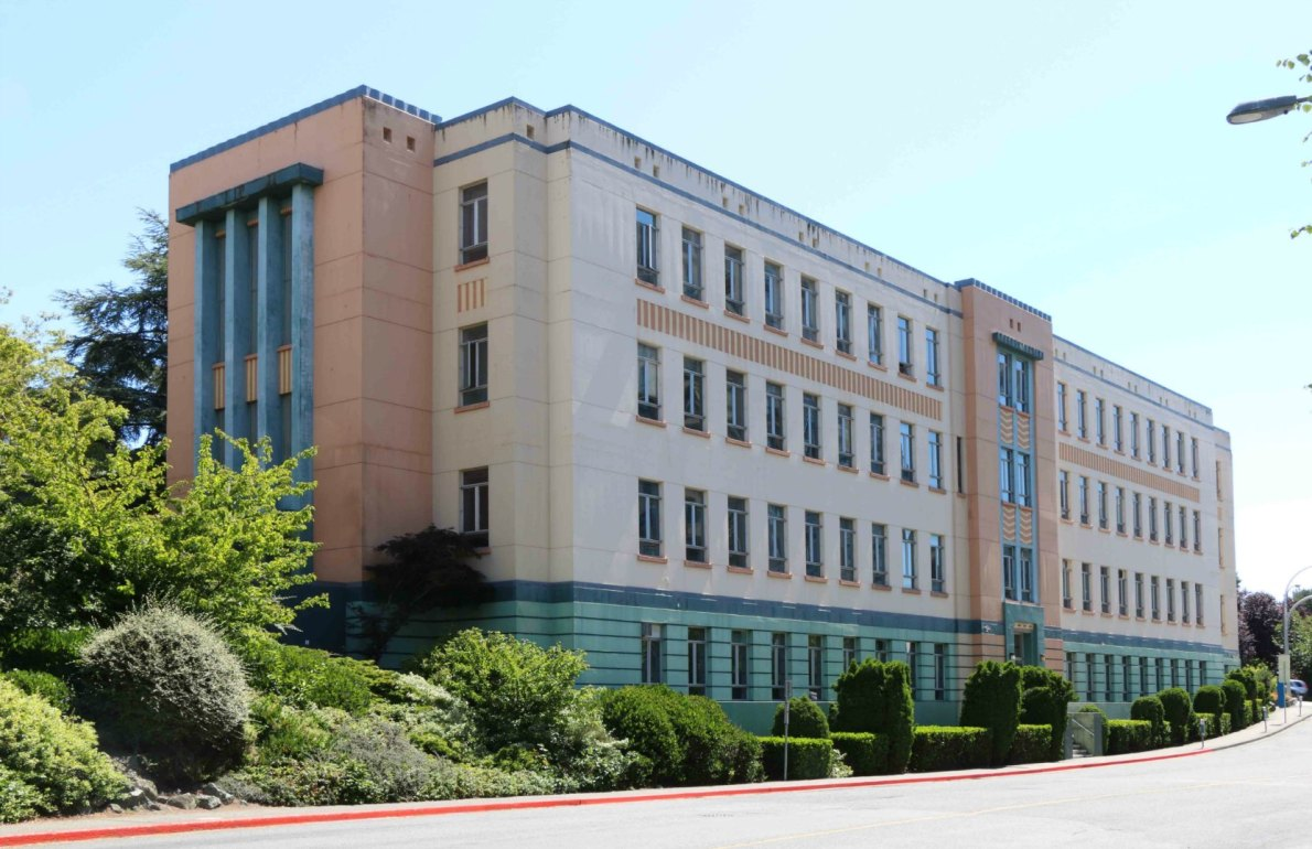 780 Blanshard Street, built in 1939-1940. It became the headquarters of the B.C. Power Commission.