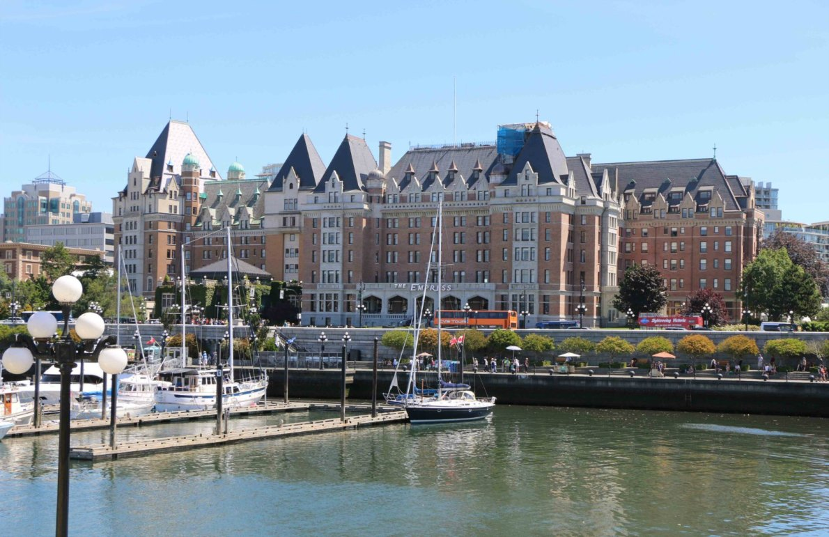 The Empress Hotel and the Causeway, seen from the Steamship Terminal on Belleville Street