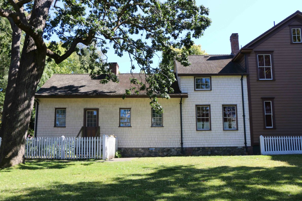 Helmcken House, the home of pioneer physician Dr. John Sebastian Helmcken, has been on the Thunderbird Park site since the 1860's (photo by Victoria Online Sightseeing Tours)