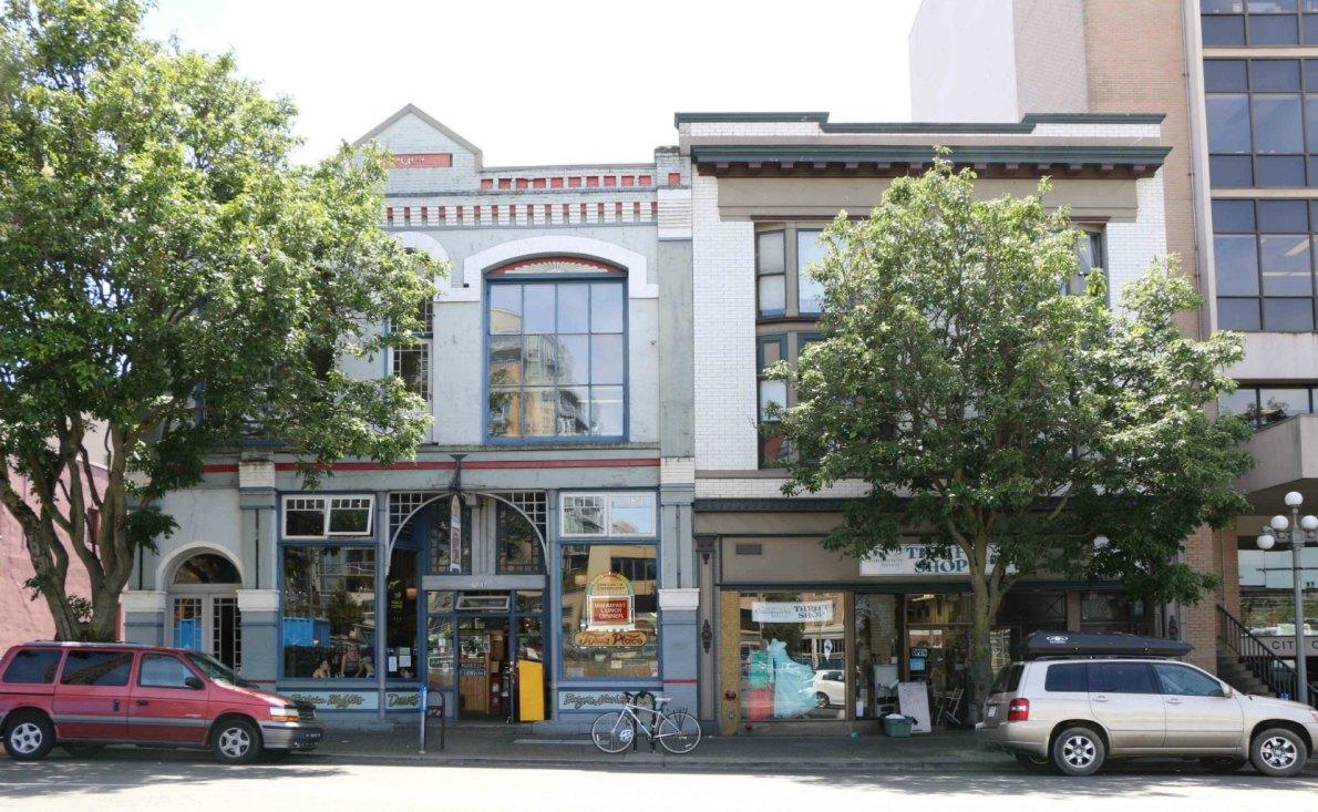 715 Pandora Avenue (right) and 727 Pandora Avenue (left). (photo: Victoria Online Sightseeing)