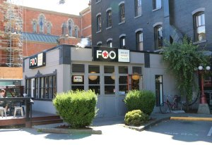 This restaurant at 769 Yates Street was originally built as a service station.