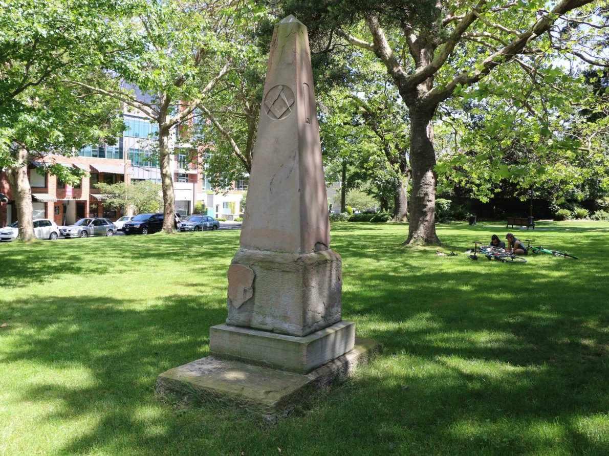 The grave of Andrew Phillips in Pioneer Square (photo by Victoria Online Sightseeing Tours)