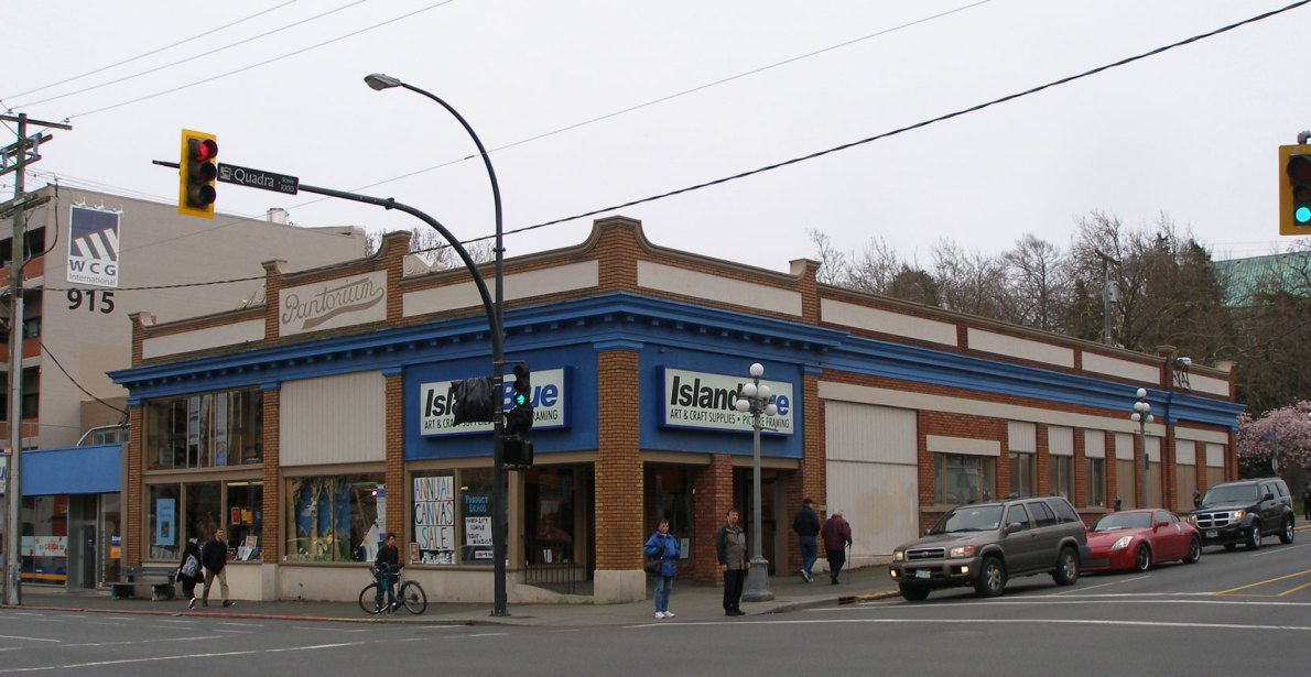 905 Fort Street, built in 1925, is now occupied by Island Blue Print (photo by Victoria Online Sightseeing Tours)