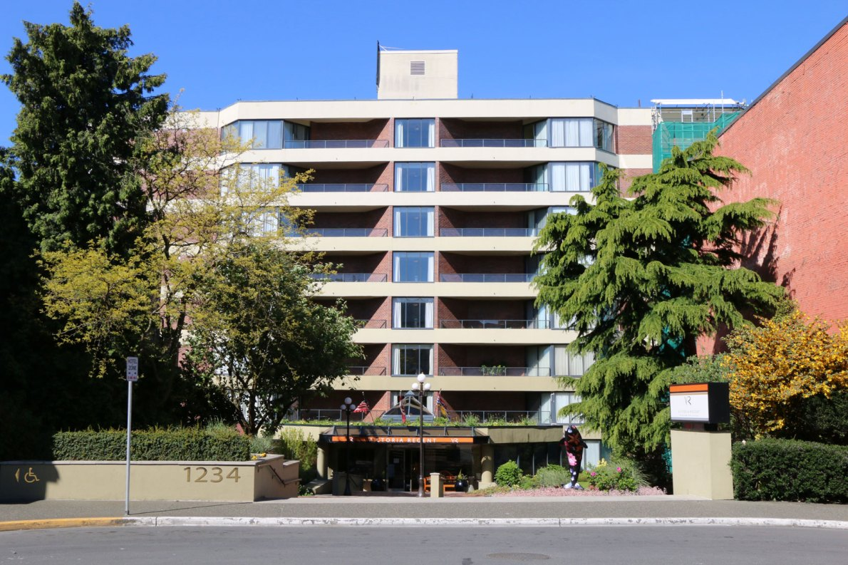 1234 Wharf Street, built in 1981 as hotel it is now 53 strata apartments (condominiums)