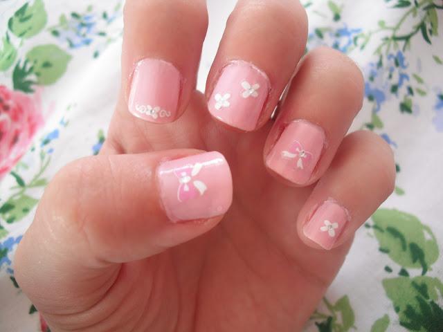 Nail Art - Pretty Pink Bows & Blooms.. ♥ | Victoria's ...