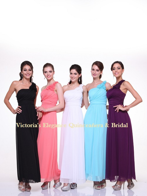 3908 One Shoulder Bridesmaid Dress