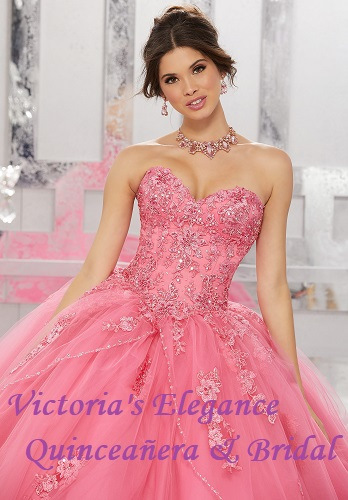 Style 60024 Beaded & Embroidered Bodice @ www.victoriaselegance.com