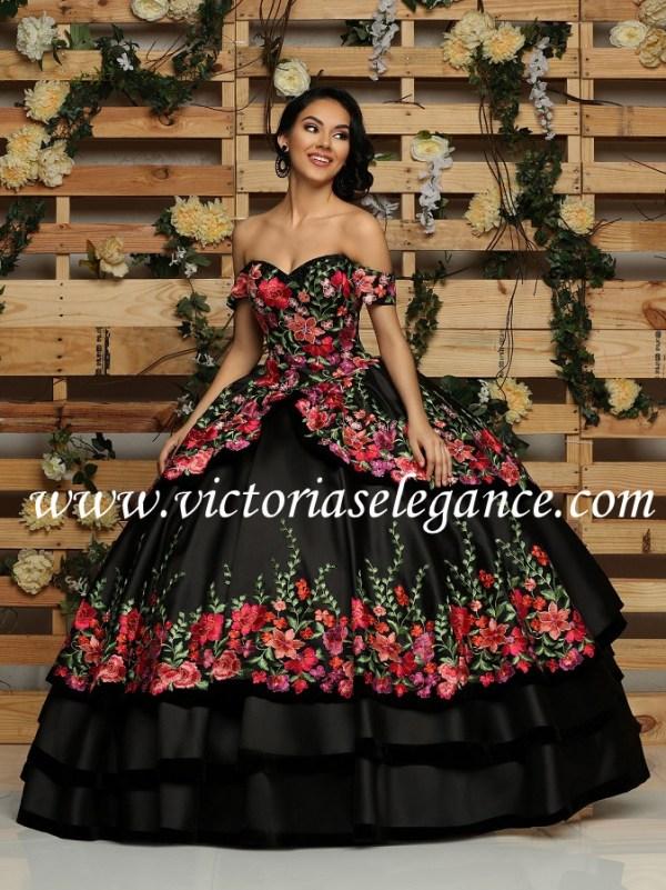5a482841ac7 Mikado Charro Dress Embroidered Applique Q by DaVinci 80429 ...