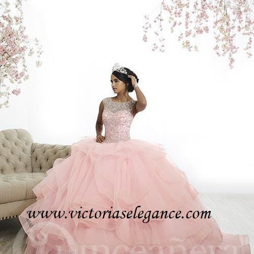Bejeweled Ruffled Ball Gown, Prom Gala Pageant, Quinceanera Ball Gown, Sweet 16, House of Wu