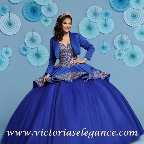 Satin & Tulle Ball Gown, Quinceanera Ball Gown, Da Vinci