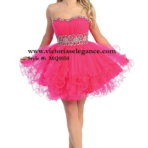 Short Tulle Dress, Prom Gala Pageant, Quinceanera Ball Gown, Sweet 16, Homecoming Dress