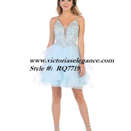 Short ruffled tulle dress, bridesmaid dress, dama's dress, prom gala pageant, sweet 16
