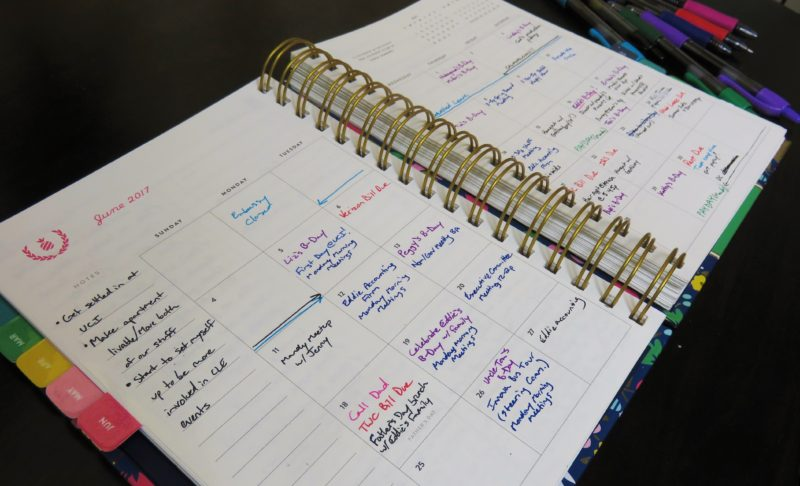Simplified Planner Monthly Calendar