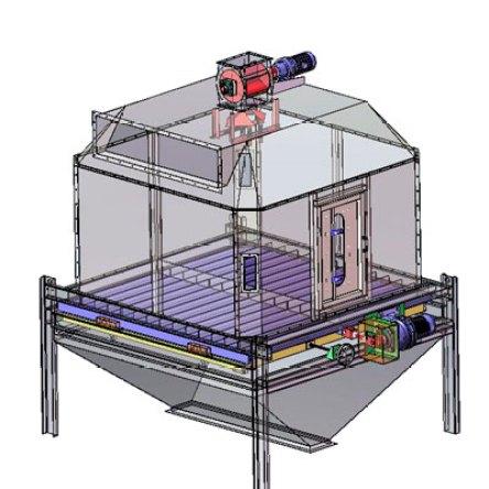 pellet cooler system