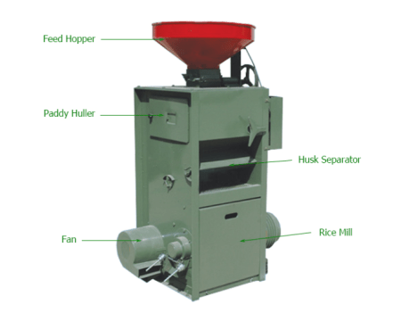 SB rice mill machine