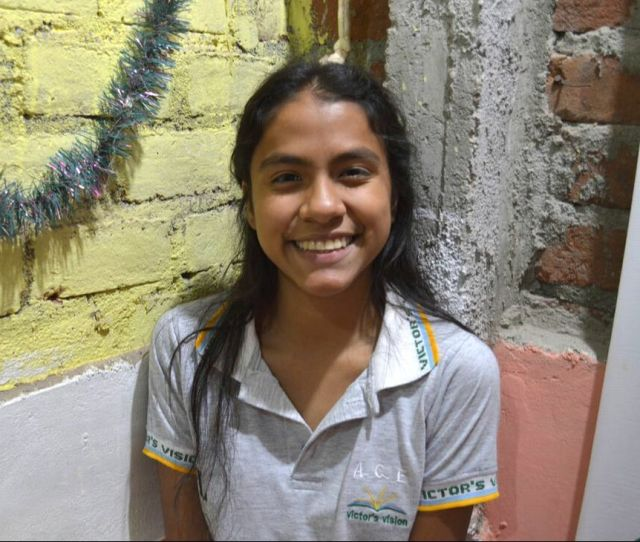 Lesly Joined Victors Vision In 2011 When She Was Just 9 Years Old And Was One Of The First Students In The Program She Lives With Her Mom Dad