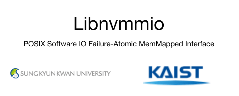 Libnvmmio – POSIX Software IO Failure-Atomic MemMapped Interface