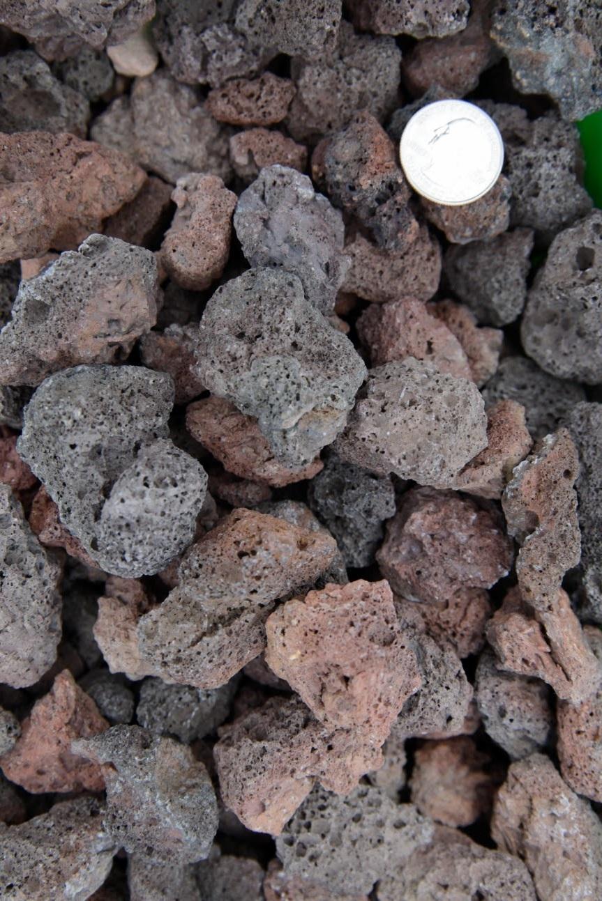 Gray Lava Rock Landscaping