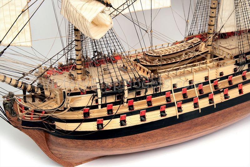 Ship Model Principe De Asturias Historic Wooden Static