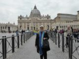 In front of the Vatican