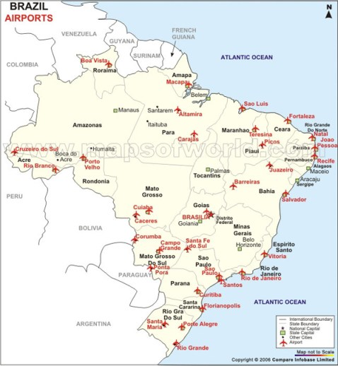 Mapa aeroportos Brasil