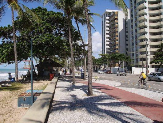 Calçadão da praia de Boa Viagem - Recife - PE