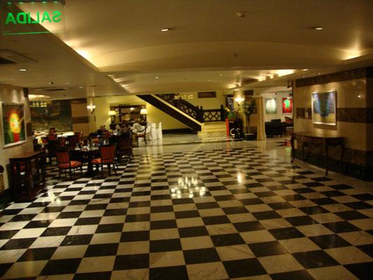 Hall de entrada do Hotel Panamericano