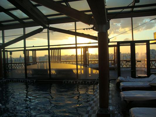 Essa é a piscina do Hotel Panamericano